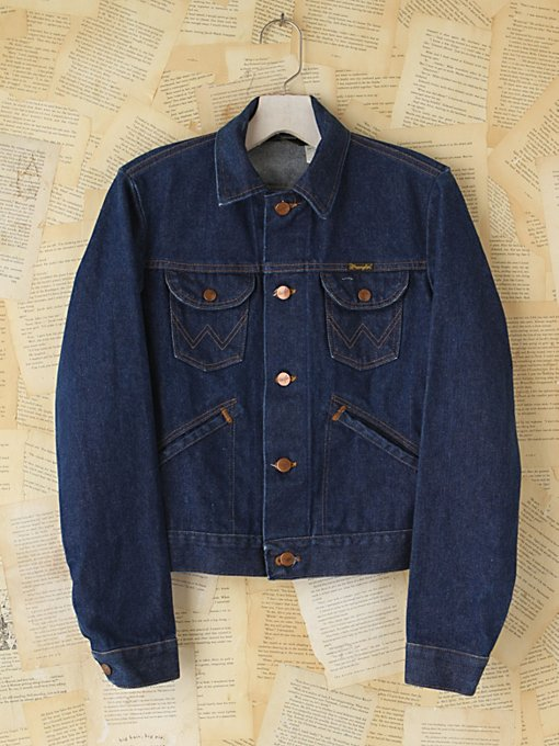 Free People Vintage Wrangler Denim Jacket in vintage-jeans