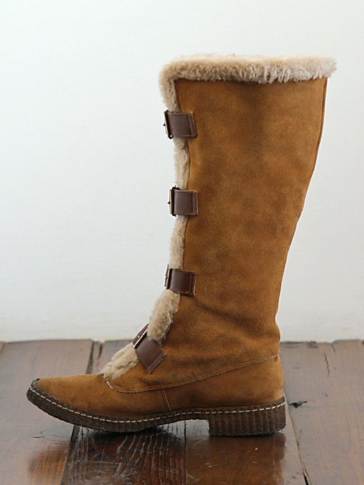 Free People Vintage Shearling Buck Suede Boots in vintage-shoes