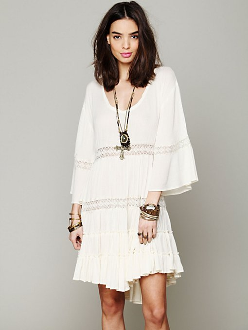 Free People Daisy Lace Dress in Shift-Dresses