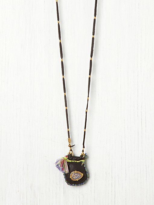 De Petra Pouch and Tassel Pendant in bib-necklaces