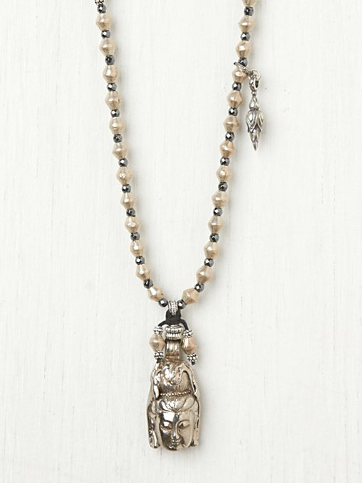Turchin Big Buddha Locket in bib-necklaces
