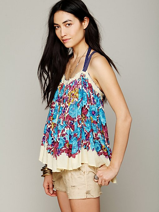 Free People FP ONE Living Large Floral Tank in Party-Tops