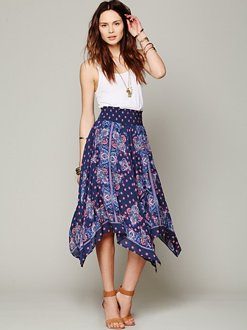 Free People Kaleidoscope Fly Away Skirt in maxi-skirts