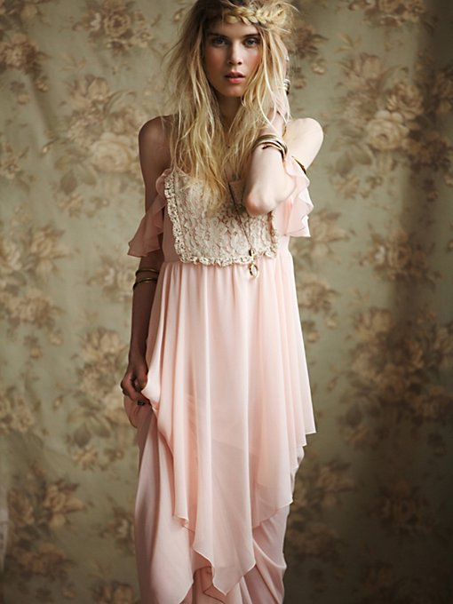 Free People Flutter Slip in Chiffon-Dresses