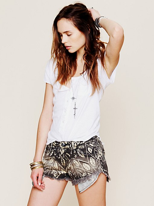 Free People Shibori Printed Cut Off in cutoff-shorts