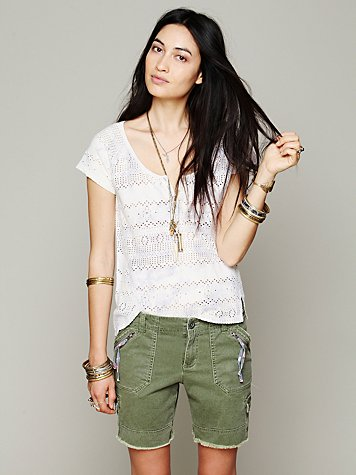 Free People Cargo Twill Short