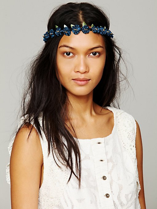 Amber Floral Headband in Hair-Accessories
