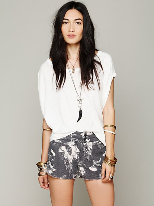 Free People Double Weave Cut Off in Shorts