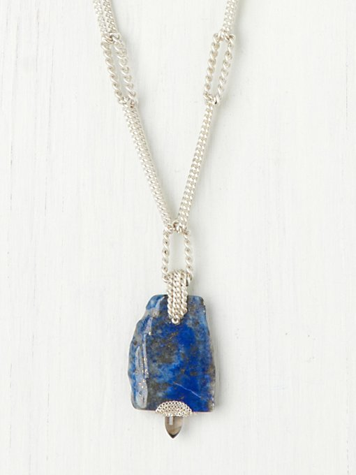 Annie Hammer  Raw Stone Pendant in bib-necklaces