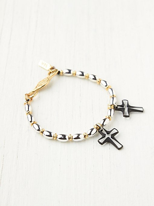 Vanessa Mooney Cross Drop Bracelet in beach-jewelry