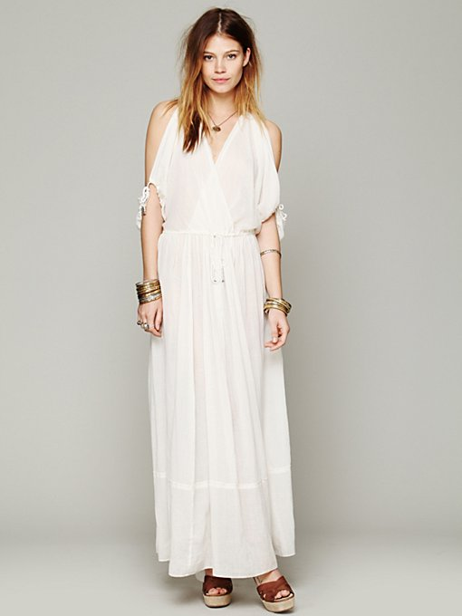 Free People Open Shoulder Maxi Dress in white-maxi-dresses