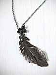Onyx Feather Necklace
