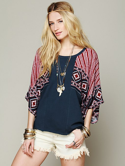 Free People Festival Sleeved Pullover in knit-tops
