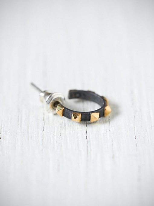 e.m. noir  Studded Small Hoop in boutique-rings-earrings