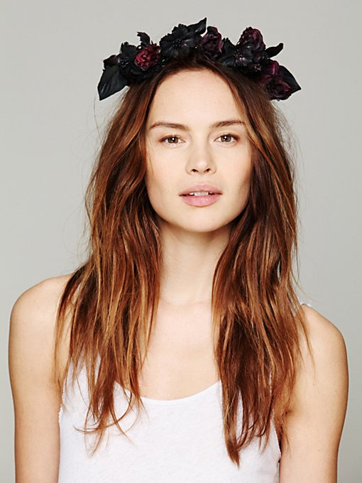 Britt by Britt Garden of Eden Floral Crown in Hair-Accessories