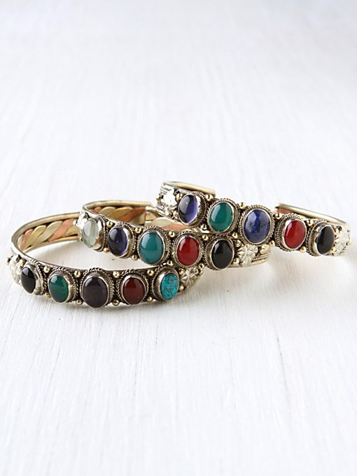 Multi Stone Skinny Cuff in accessories-jewelry-bracelets