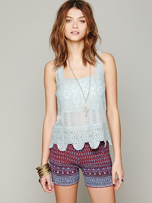 Intimately Textured Flower Crop Cami in crop-tops