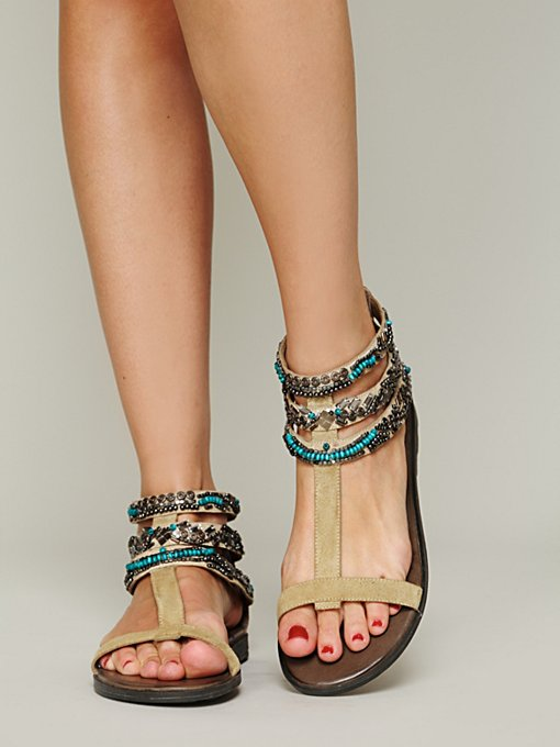Sahara Beaded Sandal in shoes-sandals