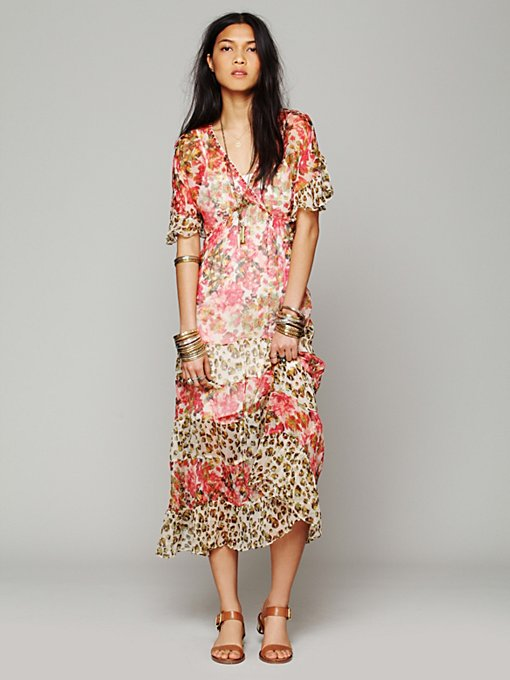 Free People Flower Dream Dress in Chiffon-Dresses