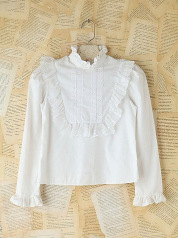 Vintage Victorian High Neck Top
