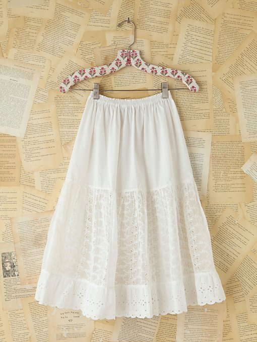 Free People Vintage Victorian Mid-Length Skirt in vintage-skirts