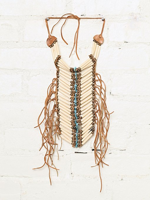 Free People Vintage Fringe Breastplate Necklace in Vintage-Jewelry