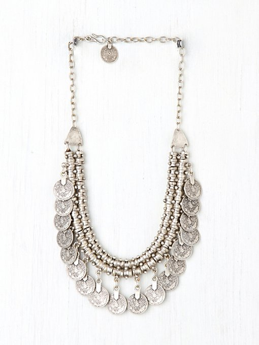 Chanour Pewter Short Chain Collar in beach-jewelry