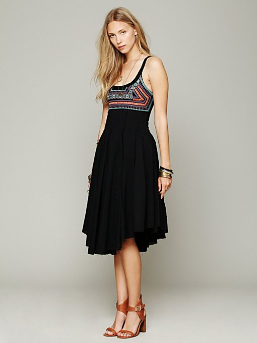 Free People Telluride Fit-N-Flare Dress in crochet-dresses