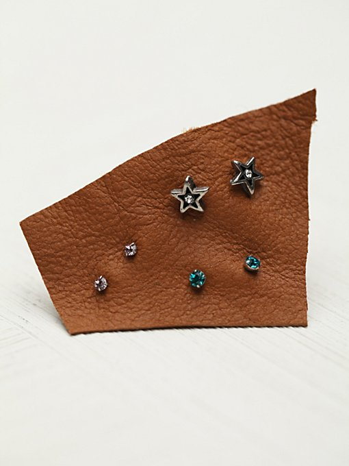 Tiny 6 Pack Studs in jewelry