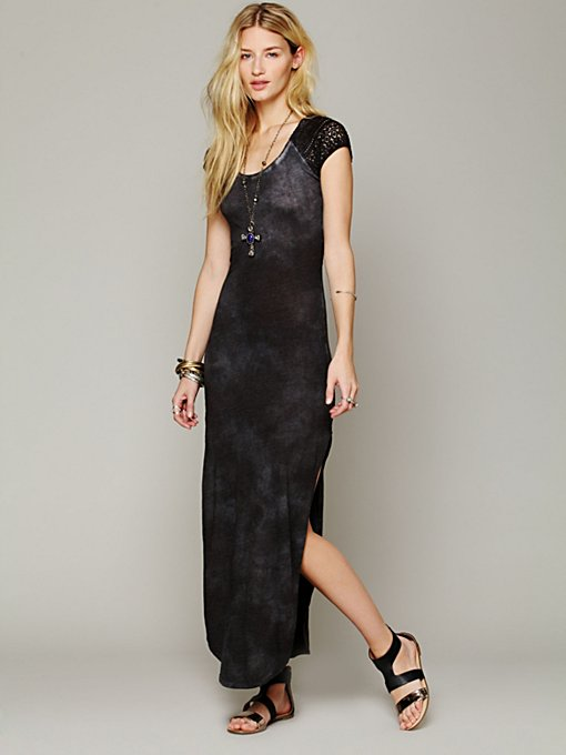 Maxi Lace Dress in knit-jersey