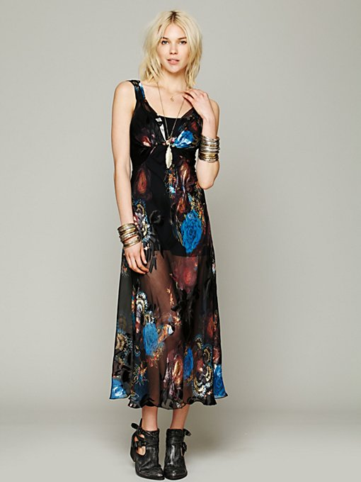 Mary Green Helen Maxi Slip in Silk-Dresses