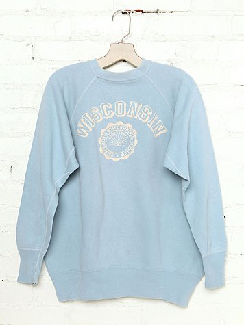 Free People Vintage Wisconsin Sweatshirt