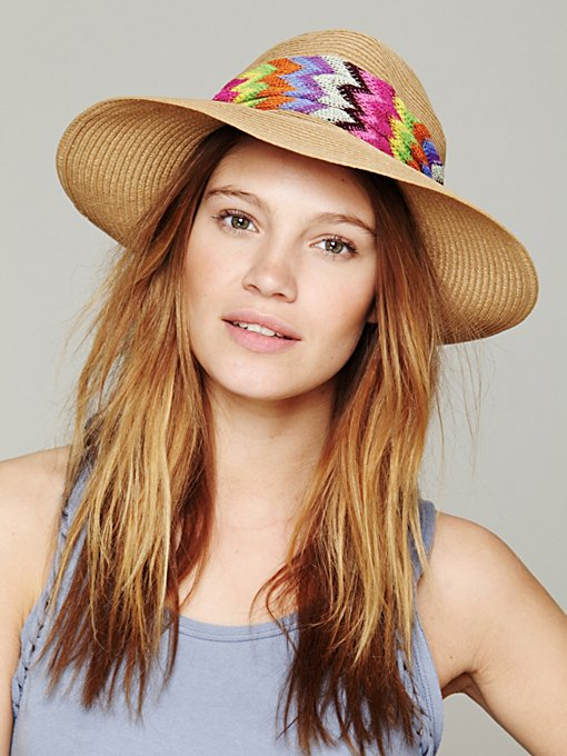 Zig Zag Banded Panama in accessories-hats