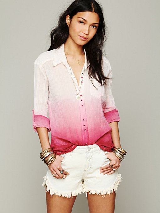 Free People FP ONE I Shall Be Free Buttondown in blouses-2