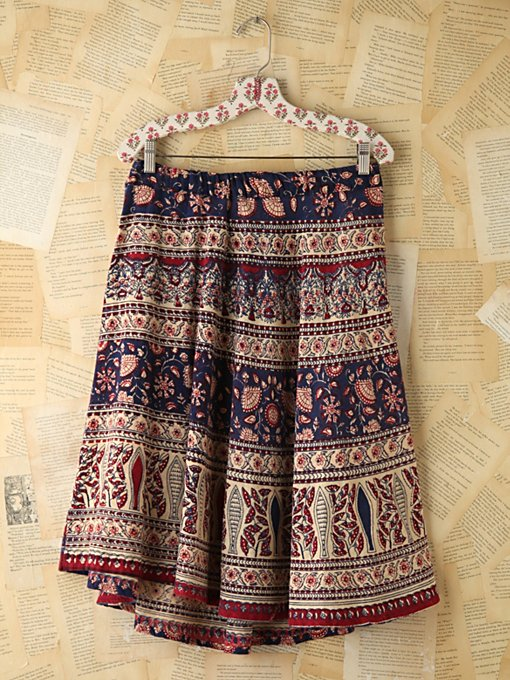 Free People Vintage Printed Skirt in vintage-skirts