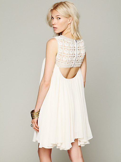 Free People Scoopback Slip in Chiffon-Dresses