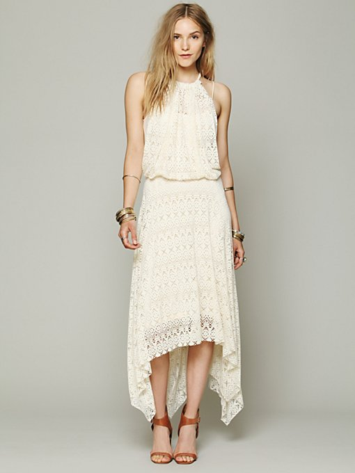 Free People FP X Wild Flower Halter Dress in Floral-Dresses