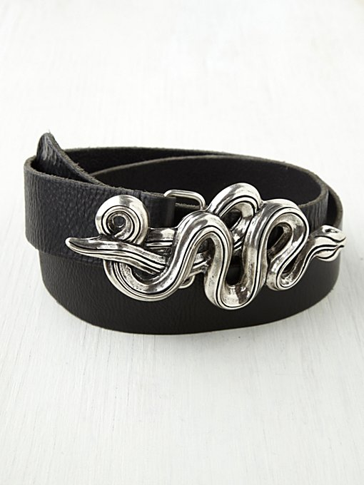 Streets Ahead  Serpent Leather Belt in waist-belts