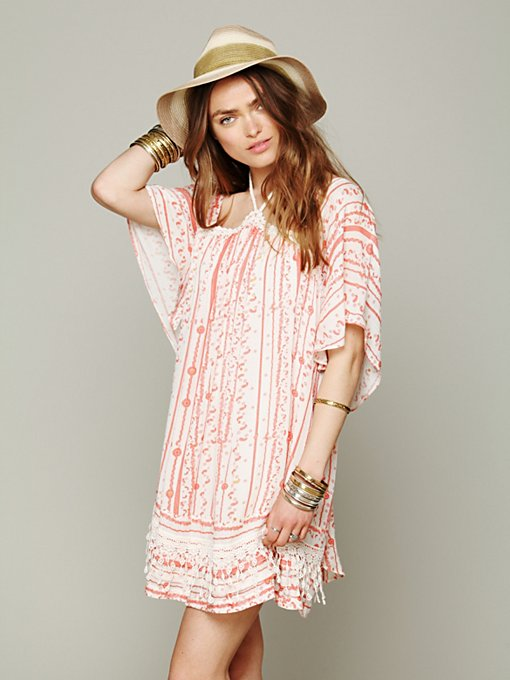 Free People FP New Romantics Paisley Punch Dress in Shift-Dresses