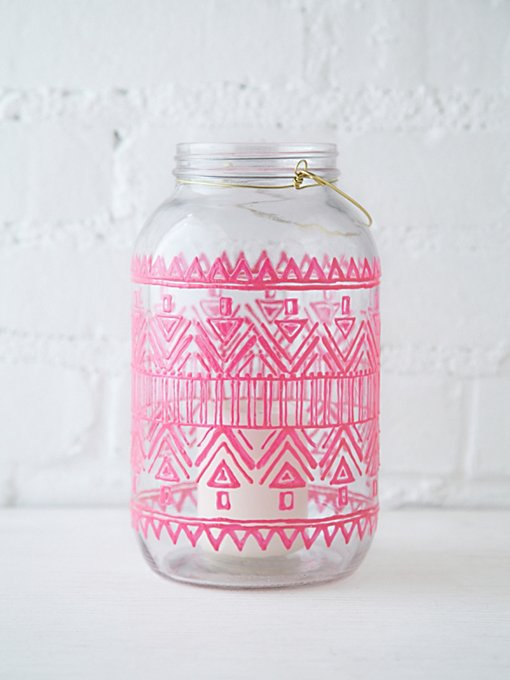 LitDecor 64 oz. Mason Jar Lantern in Boho-Beauty-2