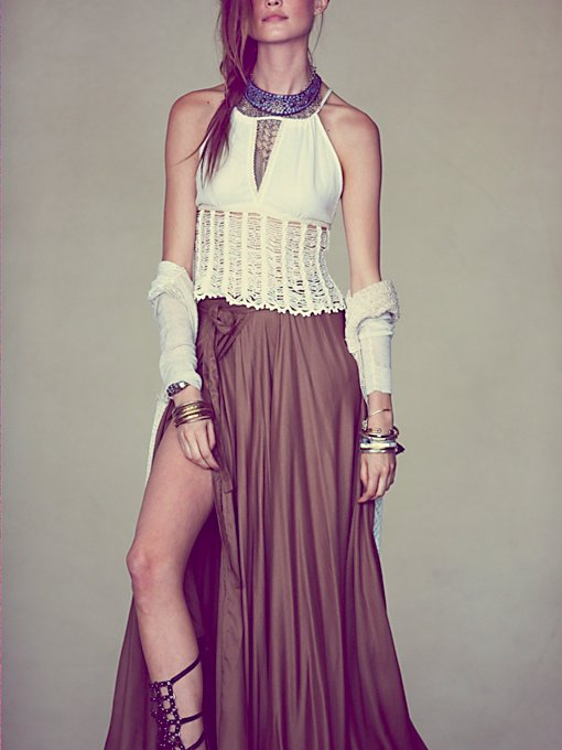 Free People Flowly Slit Skirt in skirts