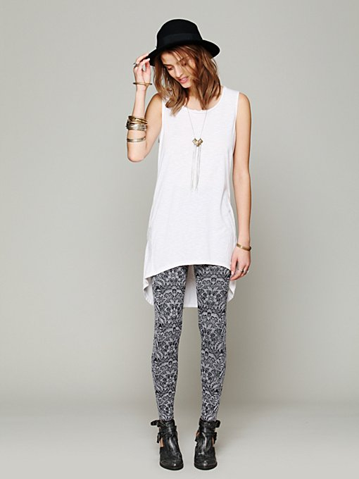 Free People Printed Intarsia Legging in Leggings
