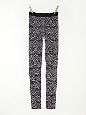 Printed Intarsia Legging in fp-body