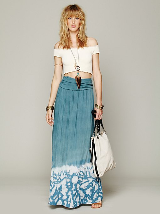 Convertible Tie Dye Skirt in maxi-midi