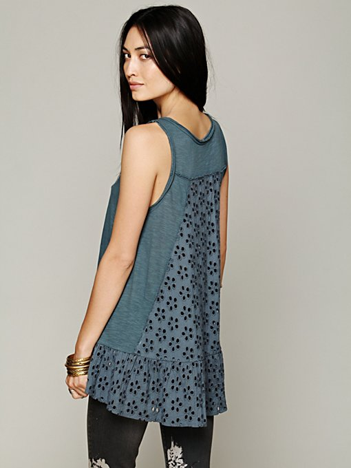 Free People Olivia's Peplum Top in knit-tops
