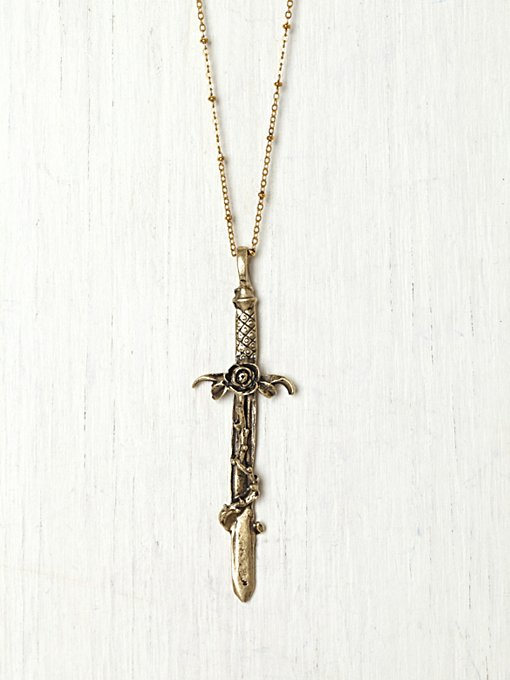 Vanessa Mooney Crimson Cross Necklace in necklaces