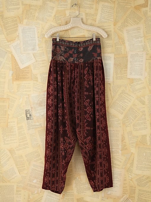 Free People Vintage Ikat Pants in vintage-skirts