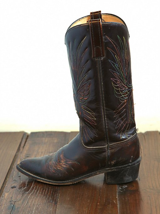 Vintage Leather Cowboy Boots in vintage-loves-shoes