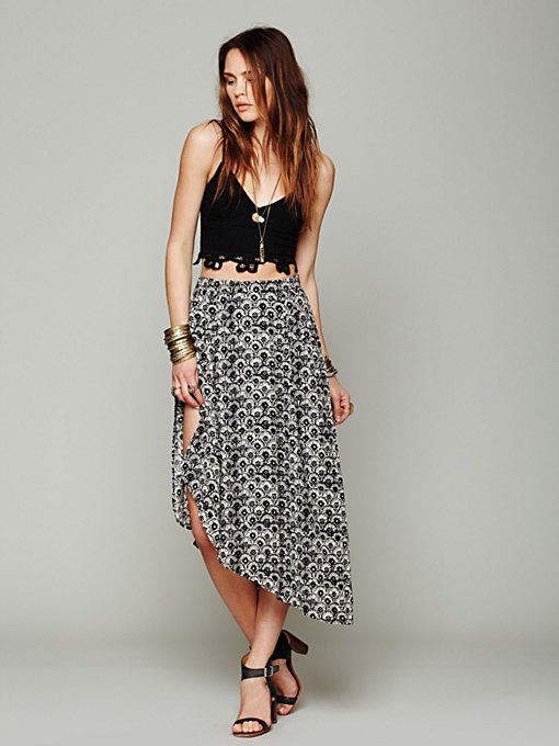 Free People Printed Ayana Sarong in skirts