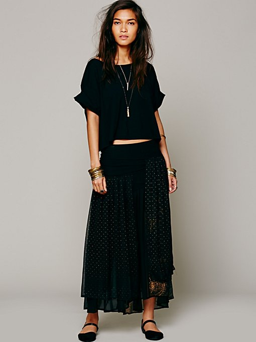 Free People Kristal Ruffle Dot Skirt in skirts